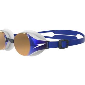 speedo Hydropure Mirror Goggles, wit/blauw